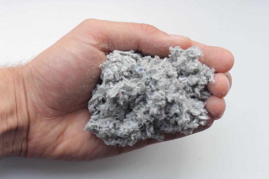 grijze cellulose vezels